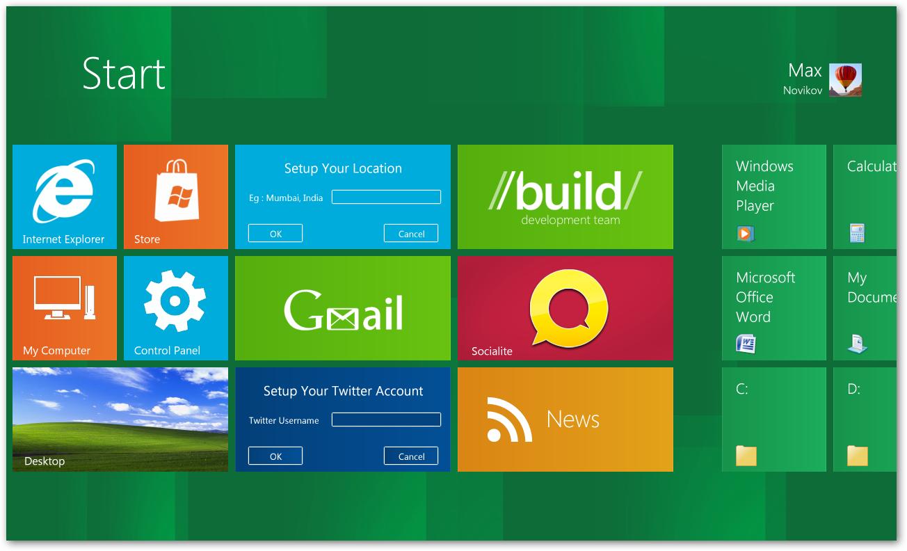 Как сделать windows xp похожую на 8